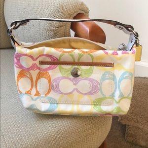 Cute multi pastel color coach mini purse